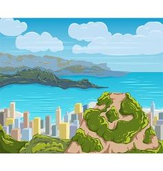 Rio de janeiro skyline brazil city landscape vector