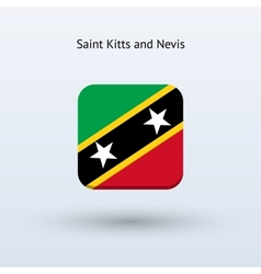 Saint kitts and nevis flag icon vector
