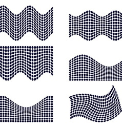 Set of halftone backgrounds vector image vector image