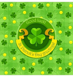 Shamrock symbol for saint vector image vector image