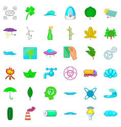 splash icons set cartoon style vector image