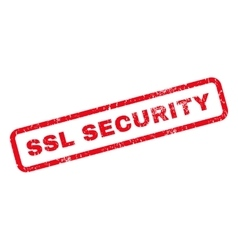 SSL Security Rubber Stamp vector image