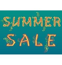 Summer Sale Floral artistic font vector image vector image