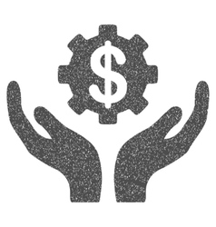 Maintenance price grainy texture icon vector