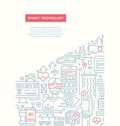 Smart technology - line design brochure poster vector