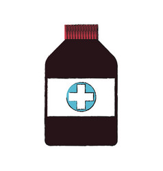Medical bottles icon vector