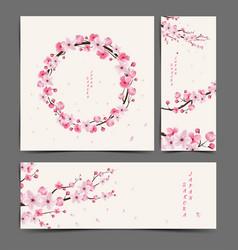 Cherry blossom realistic cherry blossom vector