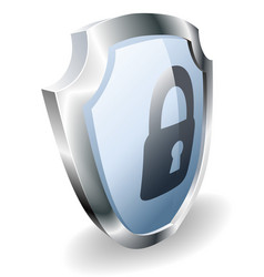Padlock shield security concept vector