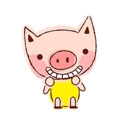 A smiling piggy vector