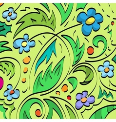 Floral brush background vector