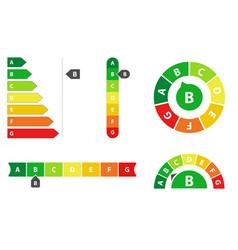 energy efficiency rating vector image