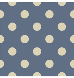 Seamless beige polka dots on blue background vector