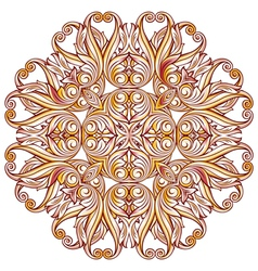 Ornate floral pattern on white vector image