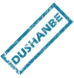 Dushanbe rubber stamp vector