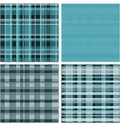 Four pattern of blue patches vector