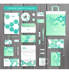 Artistic corporate identity template with vector