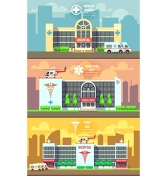 Medical center and hospital building vector