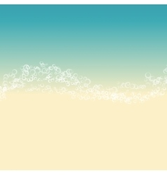 Landscape of beach vector