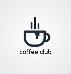 Coffee cafe sign logo theme vector