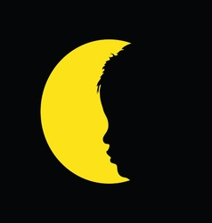 Child in circle silhouette vector