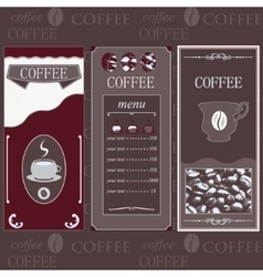 Coffee templates brown colore vector