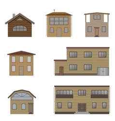 Wooden house set vector image