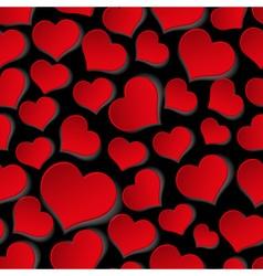 red valentine hearths symbol seamless dark pattern vector image