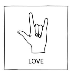 Doodle love icon vector