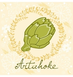 A colorful of fresh artichoke vector