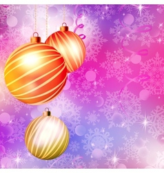 Background with Christmas balls EPS 10 vector image vector image