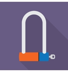 bicycle lock icon vector image