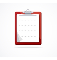 clipboard icon Flat Design vector image vector image