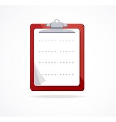 Clipboard icon flat design vector