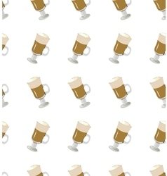 coffee latte seamless pattern vector image vector image