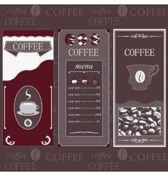 Coffee templates brown colore vector image vector image
