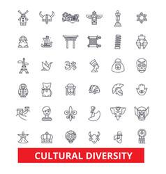 cultural diversity international enthnic vector image