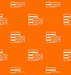 database and brick wall pattern seamless vector image vector image