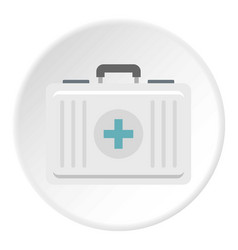 First aid icon circle vector