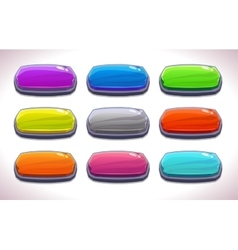 Funny cartoon colorful long horizontal buttons vector image