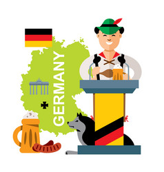 German with beer flat style colorful vector