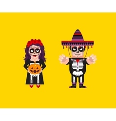 Goddess katrina with dead mexican character for vector