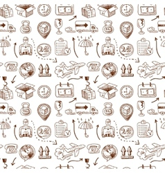 Logistic icons seamless pattern vector