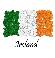 love ireland flag heart glossy with love from vector image vector image
