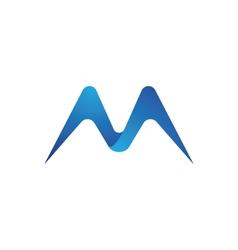 M letter logo template vector