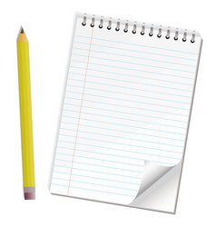 note paper pencil vector image