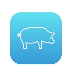 Pig line icon vector image vector image