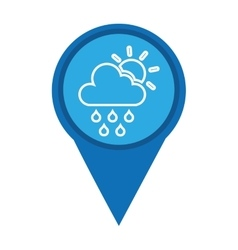 pin marker weather signal icon vector image