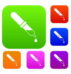 Pipette set collection vector