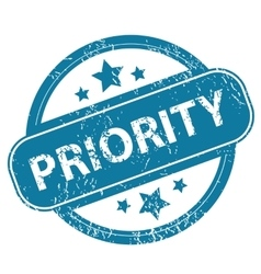 PRIORITY round stamp vector image