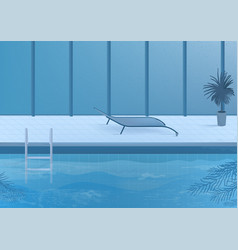 Public swimming pool inside interior vector